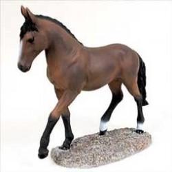 Bruin Paard In Beweging
