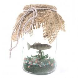 Vis in een jampot