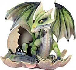 Groene draak in ei