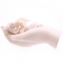Cherubijn, slapend in hand