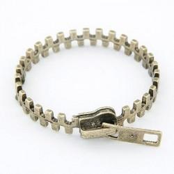 Zipper bracelet bronskleur