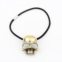 Skull haarband brons