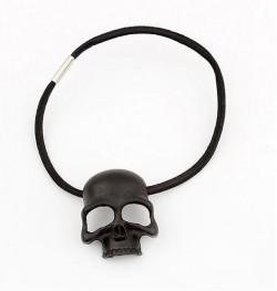 Skull haarband zwart