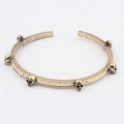 Skull bracelet bronskleur