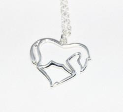 Paard hart hanger